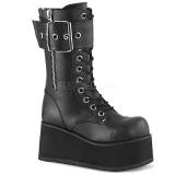 Vegan 9,5 cm PETROL-150 demonia boots - unisex platform boots