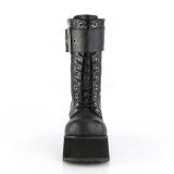 Vegan 9,5 cm PETROL-150 demonia støvler - unisex plateaustøvler