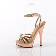 Vegan guld rose sandaler 15 cm SULTRY-638 plateau sandaler høje hæle