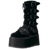 Velvet 9 cm DAMNED-225 womens buckle boots with platform