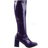 Violet Lakeret 8,5 cm GOGO-300 Høje Damestøvler til Mænd
