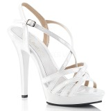 White 13 cm Fabulicious LIP-113 high heeled sandals