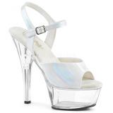 White 15 cm KISS-209BHG Platform High Heels Shoes