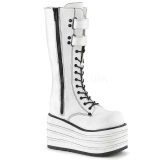 White Canvas 10 cm MORI-310 demonia boots platform