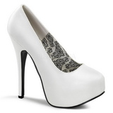 White Matte 14,5 cm BORDELLO TEEZE-06 Platform Pumps