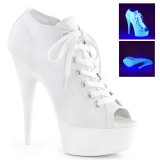 White Neon 15 cm DELIGHT-600SK-01 Canvas high heels chucks