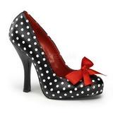 White Points 12 cm CUTIEPIE-06 Women Pumps Shoes Flat Heels