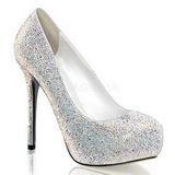 White Rhinestone 13 cm PRESTIGE-20 Platform Pumps Women Shoes