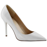White Shiny 10 cm CLASSIQUE-20 Pumps High Heels for Men