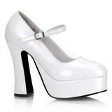 White Shiny 13 cm DOLLY-50 High Heel Pumps for Men