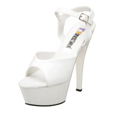 White Shiny 15 cm FUNTASMA JULIET-209 High Heels Platform