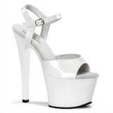 White Shiny 18 cm Pleaser SKY-309 Platform High Heels Shoes