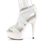 White elasticated band 15 cm DELIGHT-669 pleaser womens shoes