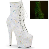White glitter 18 cm ADORE-1020GDLG Pole dancing ankle boots