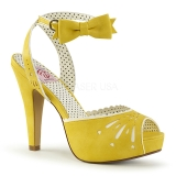 Yellow 11,5 cm Pinup retro vintage BETTIE-01 high heeled sandals