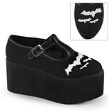 bat lærred 8 cm CLICK-04-2 gothic plateausko lolita sko tykke såler