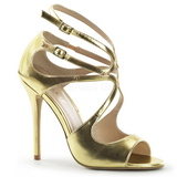 Gold Matte 13 cm AMUSE-15 High Heeled Evening Sandals