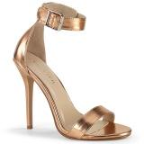 guld rose 13 cm Pleaser AMUSE-10 højhælede sandaler til kvinder