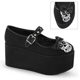 kranium lærred 8 cm CLICK-02-3 gothic plateausko lolita sko tykke såler