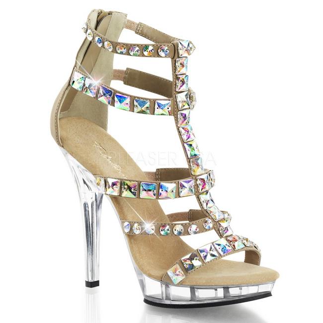 LIP-158 guld high heels danmark str 39 - 40
