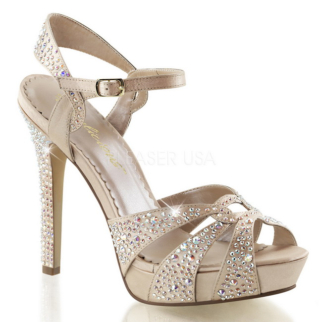 LUMINA-23 beige high heels sko str 35 - 36