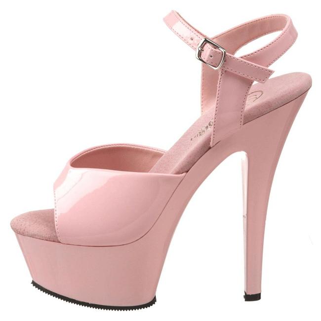 KISS-209 rosa sko med høje hæle str 37 - 38