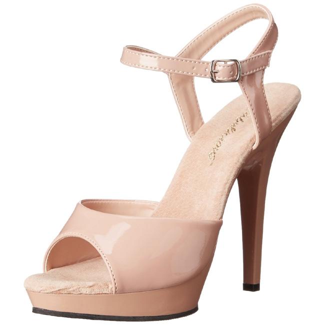 LIP-109 beige sandaler med høje hæle str 35 - 36