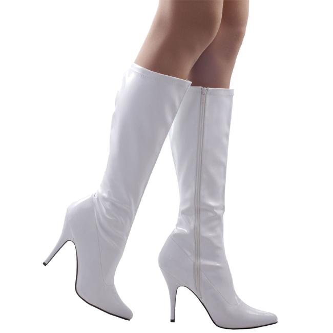 SEDUCE-2000 hvide damestøvler med høje hæle str 39 - 40