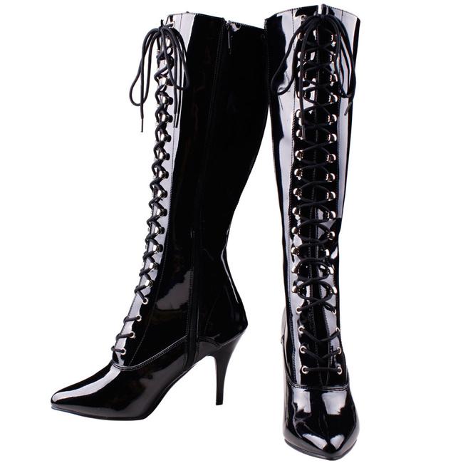 VANITY-2020 sorte damestøvler med høje hæle str 37 - 38