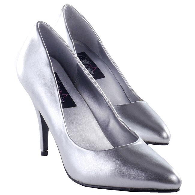 VANITY-420 sølv pumps med høj hæl str 39 - 40