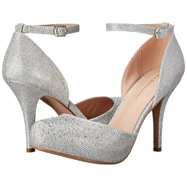 COVET-03 sølve højhælede sko str 35 - 36