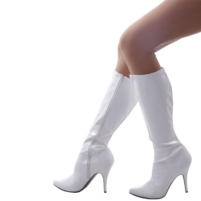 SEDUCE-2000 hvid højhælede støvler str 36 - 37