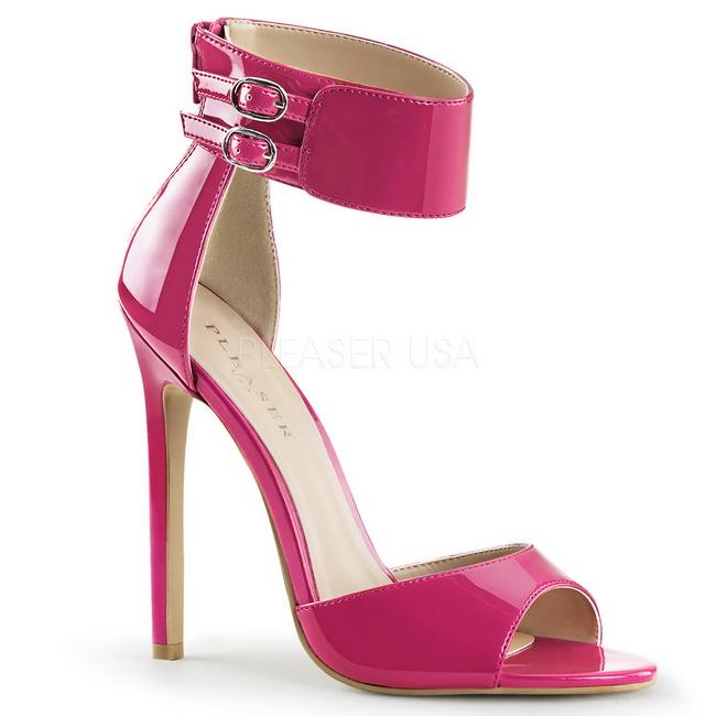 SEXY-19 lyserød højhælede sandaler str 40 - 41