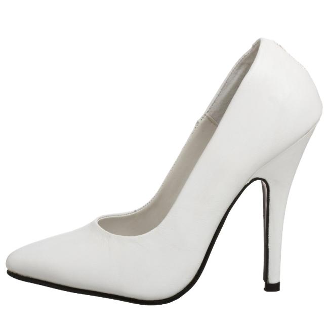 VANITY-420 hvide dame pumps sko str 37 - 38