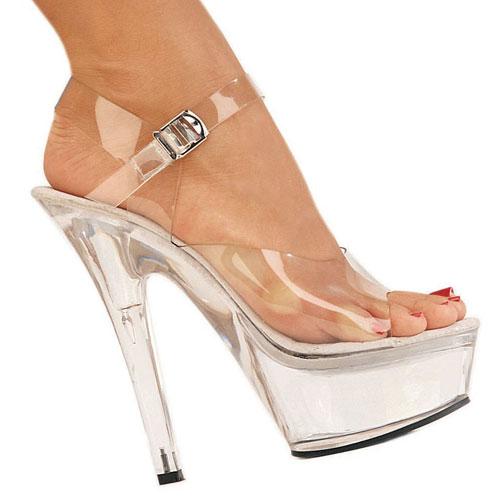 DELIGHT-609 gennemsigtig plateau sandaler til kvinder str 37 - 38