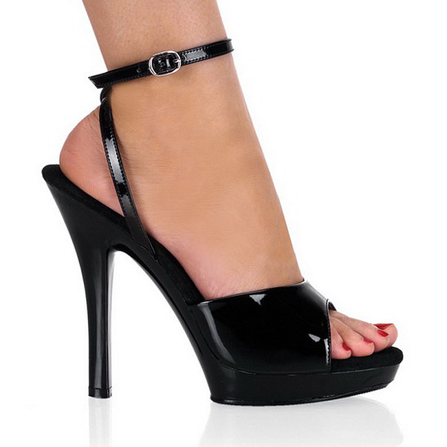 LIP-125 lak sandaler med stilethæl str 37 - 38