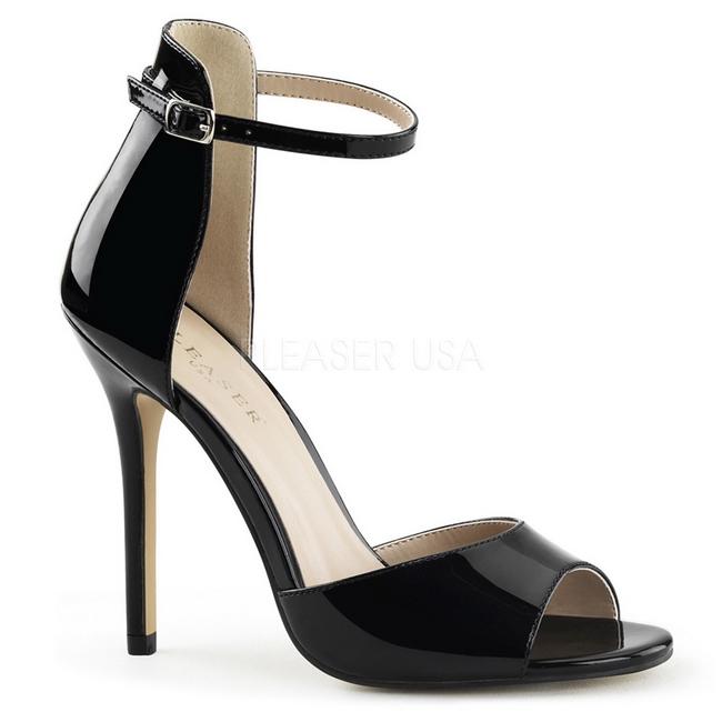 SEXY-19 sorte sandaler med høj hæl str 39 - 40