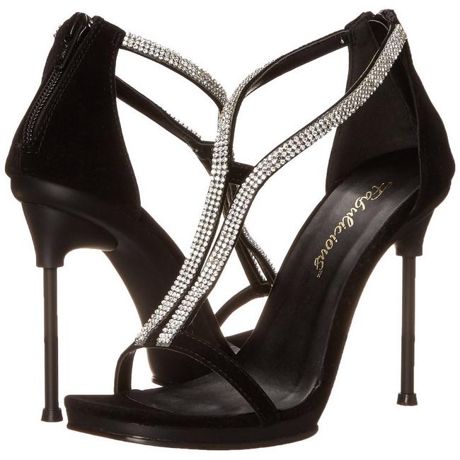 CHIC-29 strass sandaler med stilethæl str 35 - 36