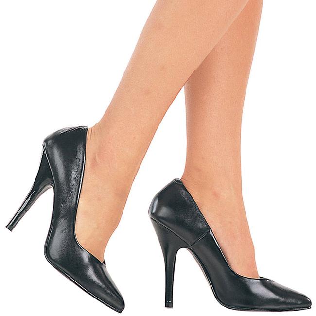 SEDUCE-420 læder stiletto pumps sko str 37 - 38