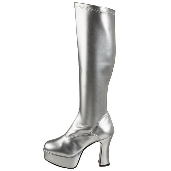 EXOTICA-2000 sølve støvler til kvinder str 36 - 37
