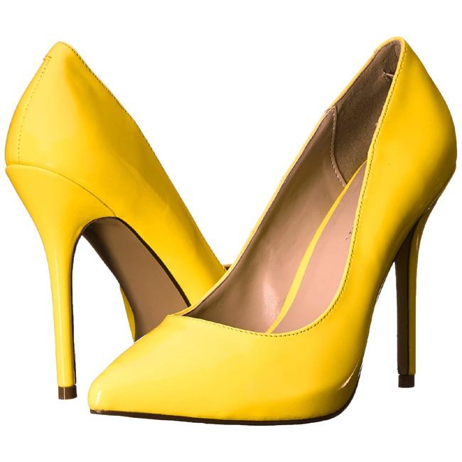 AMUSE-20 gule pumps sko store storrelser str 43 - 44