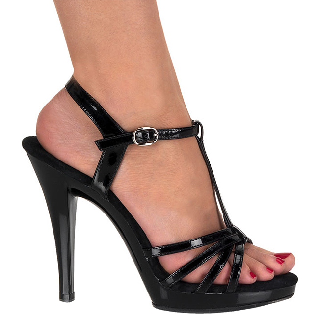 FLAIR-420 sorte high heels store storrelser str 45 - 46
