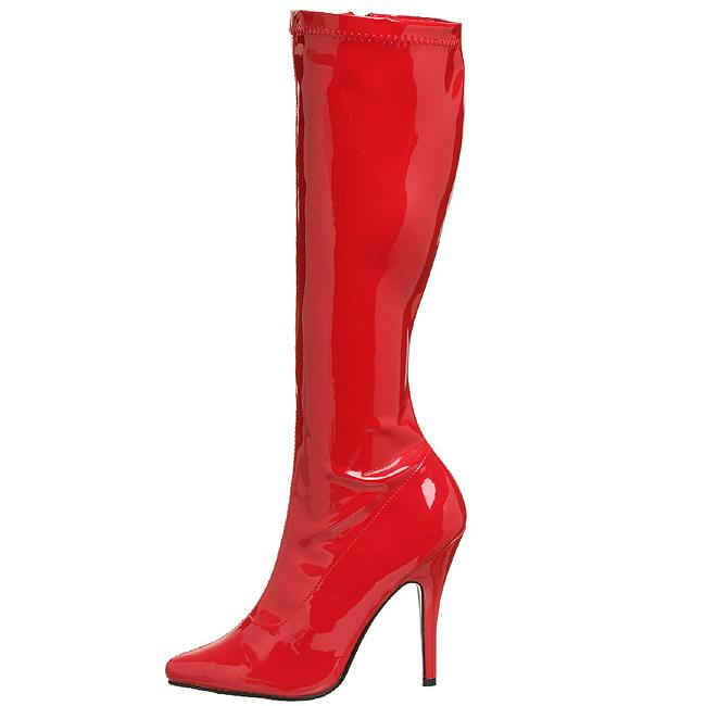 SEDUCE-2000 røde dame støvler store storrelser str 45 - 46