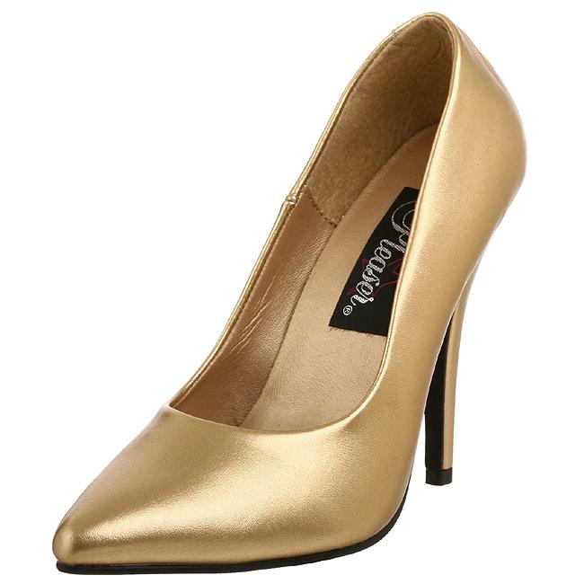 SEDUCE-420 guld pumps sko store storrelser str 45 - 46
